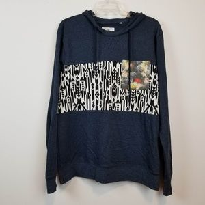 PacSun On the Byas pull over aztec print hoodie L
